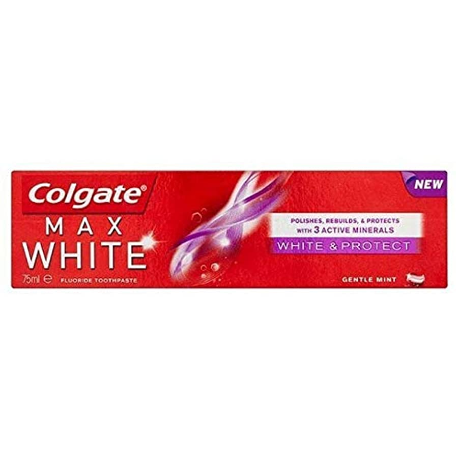 将来の孤児悪性腫瘍[Colgate ] コルゲートマックスホワイトホワイトニング&歯磨き粉75ミリリットルを保護 - Colgate Max White Whitening & Protect Toothpaste 75ml [並行輸入品]