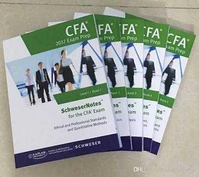 Schweser CFA Level 1 Set of books