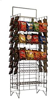 Commercial Grade Metal Convenience Store Chip/Bagged Merchandise Rack, Black