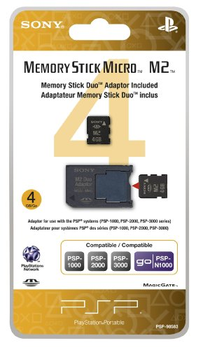 4GB Memory Stick Micro Media + M2 Duo Adaptor