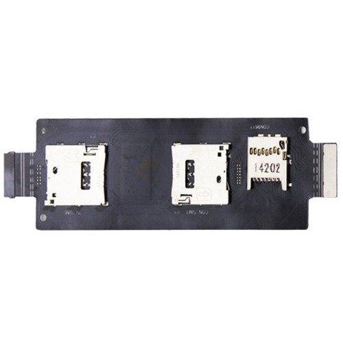 Lecteur de carte SIM SD avec câble Flex pour Asus Zenfone 2 ZE550ML ZE551ML