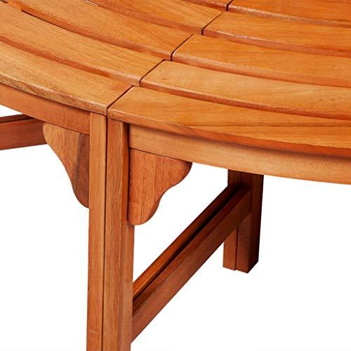 Festnight Gartenbank Rundbank Parkbank Baumbank 360° Holz Sitzbank Hartholz - 3