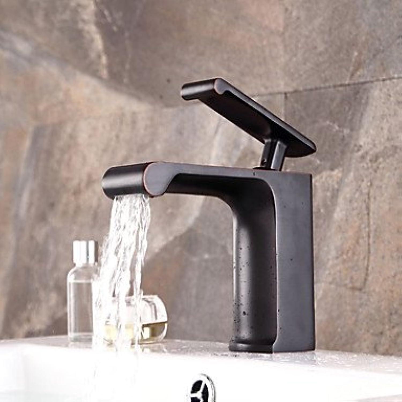 Rustikal Mittellage Wasserfall Breite spary Vorspülung with Keramisches Ventil Einhand Ein Loch for Gebürsteter Nickel, Waschbecken