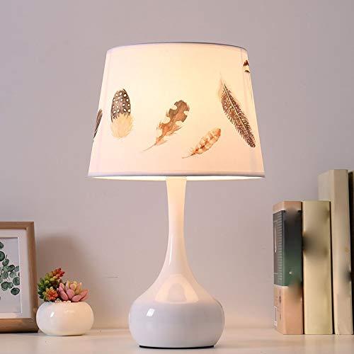 Lfixhssf Lfixhssf Feather Smeedijzeren lamp slaapkamer creatieve warme sober moderne LED tafellamp Lfixhssf