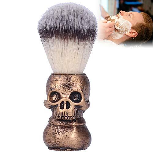 Brocha de afeitar, Salón de limpieza facial Cepillos de afeitar con espuma Cepillo de barba portátil para hombres Herramienta de cuidado Ideal para el día del padre Regalos de la esposa o los niños