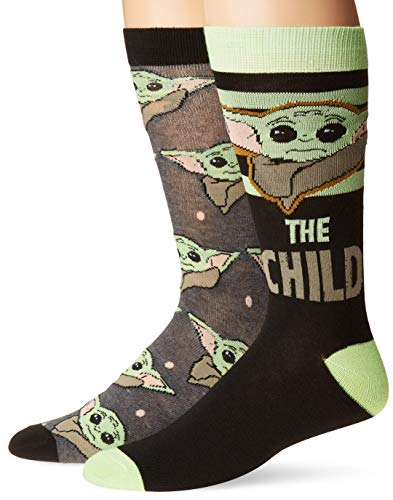 Star Wars The Mandalorian The Child Men's 2 Pack Crew Socks