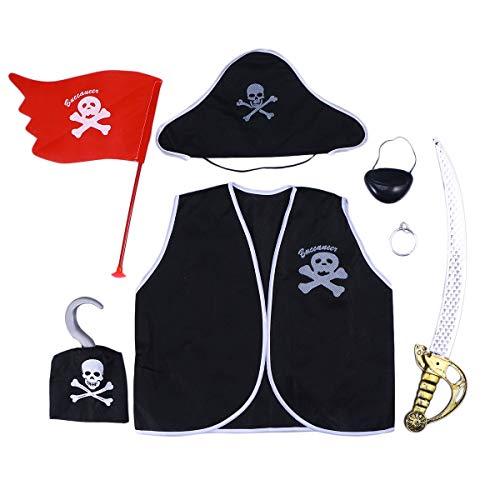 Toyvian Disfraz de Pirata de Dibujos Animados Disfraz de Pirata de Dibujos Animados Disfraz de Disfraz de Pirata de Disfraces para Fiesta de cumpleaños