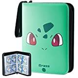 Carrying Card Binder Compatible with Pokemon Card, 50 Premium 8-Pocket Pages Sleeves Fit for TCG Baseball Football Cards, Holds Up to 400 Cards
