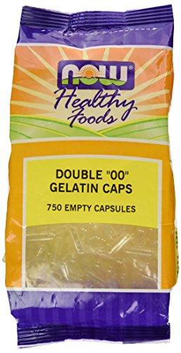 NOW Foods - Cápsulas vazias de gelatina Double ' 00 ' Size - 750 Cápsulas vegetarianas