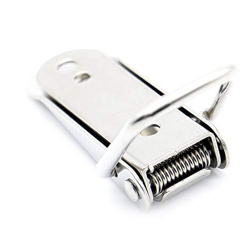 SSB-JIAJUPJ, Hardware 1pc Gabinete Cajas por resorte del retén de la palanca del cerrojo de 27 * 63 Hierro cerrojo for el deslizamiento simple ventana de la puerta del gabinete ( Size : 27*63mm 1pc )