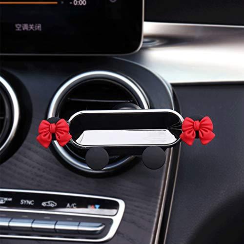 Soporte para teléfono del automóvil, soporte de teléfono ventilado por automóvil, tamaño ajustable de hasta 7 pulgadas, una sola segunda mano, adecuada para todos los iPhones y otros teléfonos Android