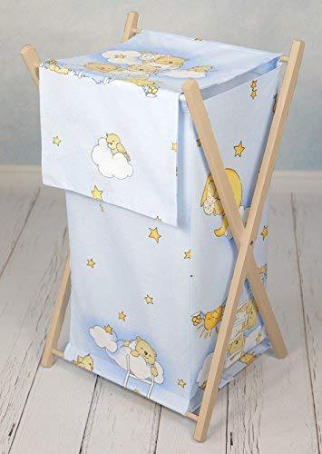 Baby Laundry Basket Nursery Hamper Bag Storage BIN with Removable Linen 70...