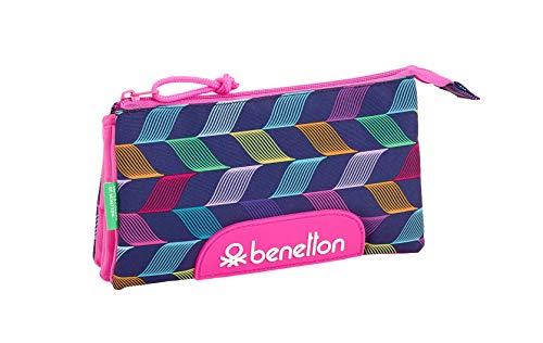 """Benetton """"Ondas"""" Oficial Estuche Escolar 220x30x100mm"""