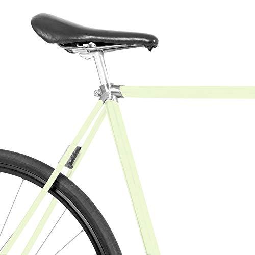 MOOXIBIKE Light Lime gruen Fahrradfolie glänzend für Rennrad, MTB, Trekkingrad, Fixie, Hollandrad, Citybike, Scooter, Rollator für circa 13 cm Rahmenumfang