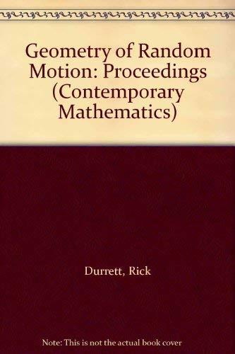 Geometry of Random Motion: Proceedings (Contemporary Mathematics)の詳細を見る