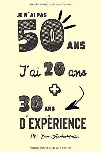 Joyeux Anniversaire Humour Carnet De Notes Idée Cadeau Pour Célébrer Les 50 Ans De Sa Femme De Sa Copine Sa Meilleure Amie Ou Sa Maman Un Cadeau