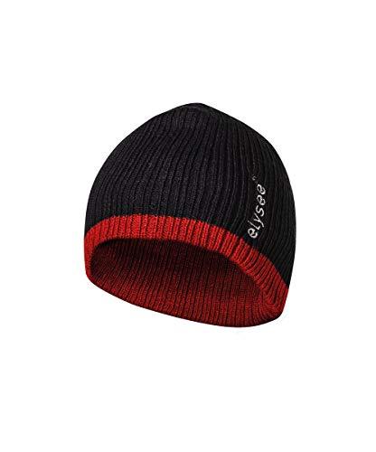 elysee Thinsulate Mütze - schwarz/rot