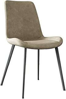 WFF Taburete Silla de comedor, de dos piezas, silla de la cocina con de nuevo, la sala de estar Silla de comedor moderna medieval con el marco de acero al carbono sólido, for la cocina, dormitorios, s