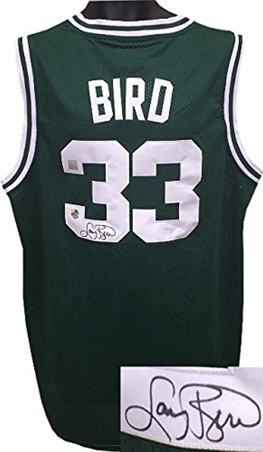 Larry Bird signed Boston Celtics Green Adidas TB Hardwood Classics Jersey XL +2 length Bird SSG Holograms