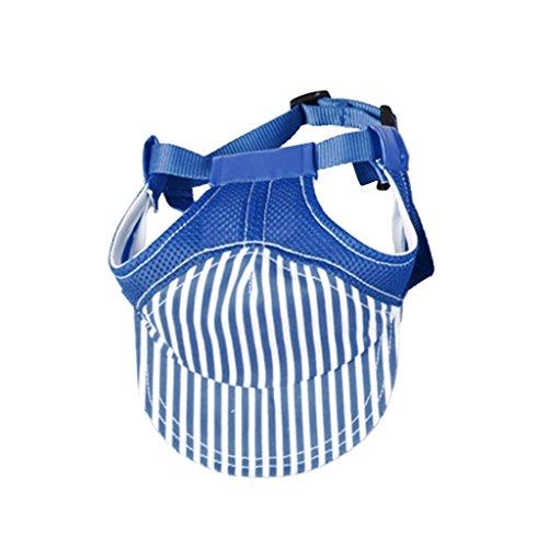 MagiDeal Hundehut Sunbonnet Baseball Cap Hut für Outdoor Sport Haustier Hund Katze Kostüme - Blau M