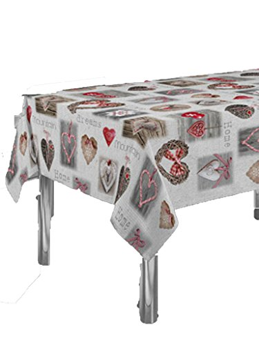 CIRAD Table Mountain Dreams gaufree Anti-Taches Couleurs Primaverales Decoracion 300 x 150 cm