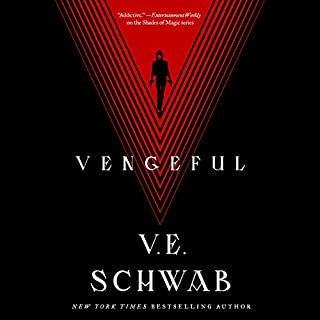 Vengeful     Villains, Book 2              Written by:                                                                                                                                 V. E. Schwab                               Narrated by:                                                                                                                                 Jeremy Arthur                      Length: 12 hrs and 57 mins     16 ratings     Overall 4.4