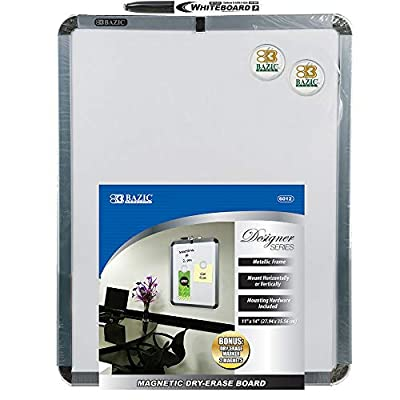 "BAZIC 11"" X 14"" Magnetic Dry Erase Board w/Marker & 2 Magnets from BAZIC Products"