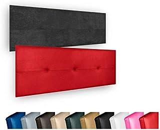Cabecero de Cama Modelo CÓRDOBA tapizado en Polipiel Azahar. Altura 50cm.para Cama de 135 (Medidas 145x50X5) en Color Beige.Pro Elite.