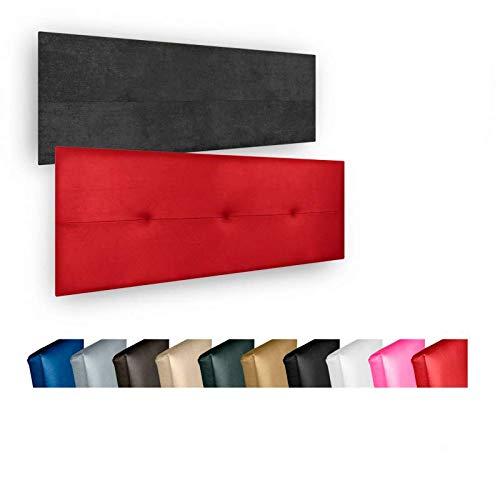 Cabecero de Cama Modelo CÓRDOBA tapizado en Polipiel Azahar. Altura 50cm.para Cama de 180 (Medidas 190x50X5) en Color Blanco.Pro Elite.