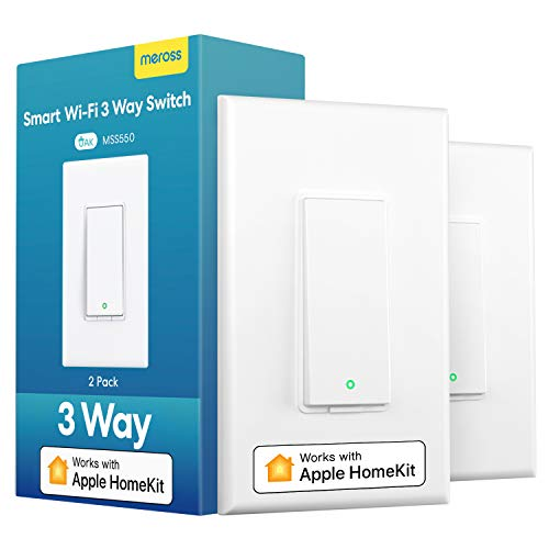 3 Way Smart Switch meross Smart Light Switch Supports Apple Homekit Siri Alexa Google Assistant amp SmartThings 24Ghz WiFi Light Switch Neutral Wire Required Remote Control Schedule