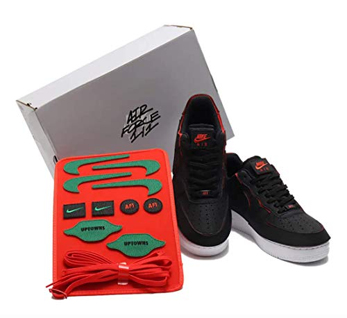 Nike Air Force 1 Low 1/1 Black Chile Red Pack Velcro Talla 47,5