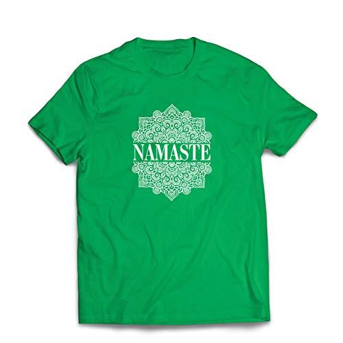 lepni.me Camisetas Hombre Meditación Yoga Namaste Mandala Zen Regalo Espiritual para...