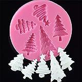 SUNIY Molde de Chocolate para Pastel 3D con Forma de árboles de Navidad, moldes de Silicona para Helado, Molde para jabón con Fondant, Utensilios para Hornear de Cocina H902