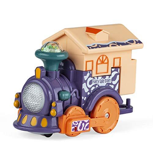 GRASARY Pequeño juguete de tracción portátil, duradero, resistente a las gotas, juguete creativo pequeño para el hogar, juego de regalo perfecto para juguetes intelectuales para niños, color morado