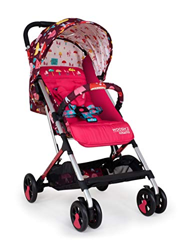 Cosatto Woosh 2 Pushchair – Ultra Lightweight Stroller from Birth to 25Kg - One Hand Easy Fold, Compact, Mushroom Magic