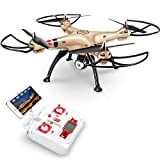 Drohne mit FPV 720P 90 Grad Verstellbar HD Kamera SYMA X8HW RC Quadrocopter 120°Aufnahmewinkel ferngesteuerte Flugzeug Wifi Live übertragung Höhehaltung, Kopflos Modi, 3D Flips&Rolls, 2...
