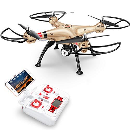 DoDoeleph FPV Drone with 720P HD Camera Wifi Live Transmission SYMA X8HW...