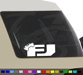 Unique Graphix FJ Cruiser Decal Car Truck Window Sticker 1 Pair