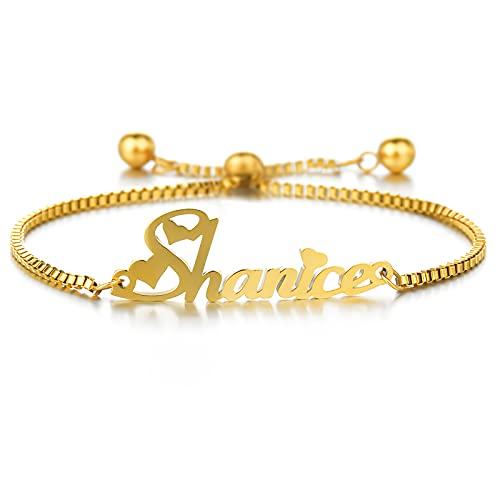 MRENITE Yellow Gold Personalized Bracelet