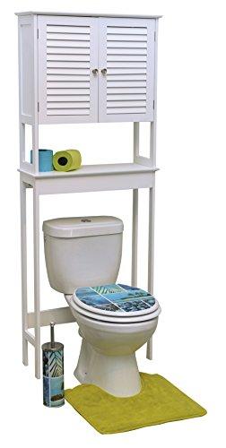 Tendance 9904307 Meuble dessus toilettes WC - 2 portes et 1 tablette - Style colonial
