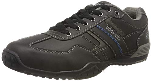 Dockers by Gerli Herren 44BN009 Sneaker, Schwarz (Schwarz/Grau 650120), 43 EU