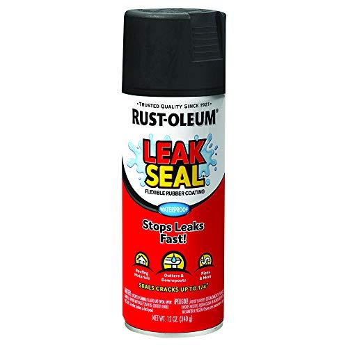 Rust-Oleum 265494 Leak Seal Flexible Rubber Sealant, 12 oz, Black