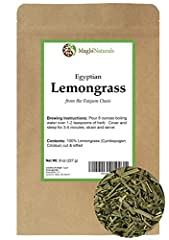 EGYPTIAN lEMONGRASS: 8 oz of Cymbopogon citratus, cut & sifted and packaged in a high quality resealable Kraft bag NATURAL PRODUCT: Our Lemongrass is from the clean Egyptian fields at Faiyum Oasis. It makes a wonderful cup of tea or seasoning additio...