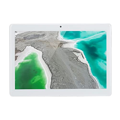 Tablet PC de 10.1 Pulgadas, 32GB ROM Octa-Core CPU 4G 4G LTE Tableta con cámaras duales de 5M x 2M para Trabajo de Estudio, Plata 5000mAh, Compatible con Doble SIM(EU)