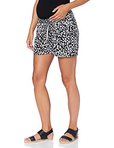 Supermom Damen Short UTB Leopard Umstandsshorts, Mehrfarbig (Black P090), 40 (Herstellergröße: L)