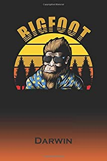 Darwin: Bigfoot Journal | Custom First Name Personal Writing Logbook | Letter D Classic Old-Fashioned Nostalgic Sunset Cover | Daily Journaling for ... about your Life, Experiences & Interests