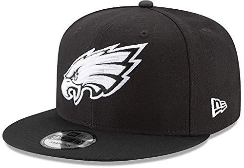 New Era NFL Basic Snap 9FIFTY Snapback Cap - Philadelphia Eagles Black 3 One Size Fits All