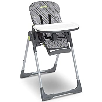 Jeep Classic Convertible 2-in-1 High Chair for Babies and Toddlers with Adjustable Height Recline & Footrest - Dishwasher Safe Meal Tray Fairway