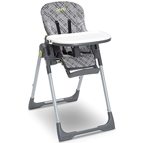 Jeep Classic Convertible 2-in-1 High Chair for Babies and Toddlers with Adjustable Height, Recline & Footrest - Dishwasher Safe Meal Tray, Fairway