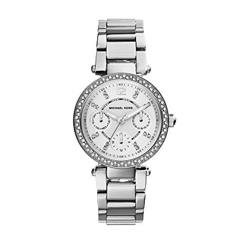 Michael Kors Damen Analog Quarz Uhr mit Edelstahl Armband MK5615